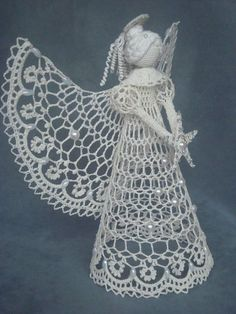 Małe aniołki i anielskie inspiracje - wzory Crochet Angel Pattern, Crochet Angels, Crochet Diagram, Crochet Chart, Thread Crochet, Filet Crochet, Easter Crochet, Cute Crochet, Crochet Lace