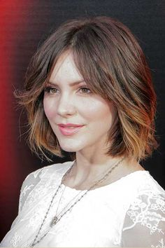 Face-framing bangs with Ombre