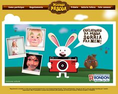 "Concurso Cultural Supermercados Rondon: ""Coelhinho da Páscoa Sorria para mim""."