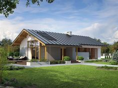Cabin House Plans, Bungalow House Plans, Tiny House Cabin, My Home Design, Home Design Plans, House Design, Houses In Poland, Humble House, Affordable House Plans