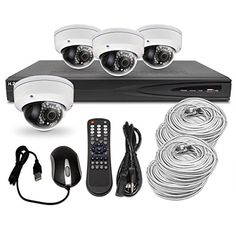 Best Vision 4 1.3MP Dome IP Camera Security System Including 4 Channel 1080p NVR with 1TB HDD and Built-in POE