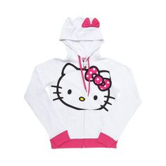 Hello Kitty Hoodie, White   Journeys Shoes