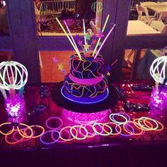 Glowstick birthday cake