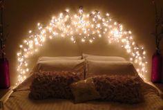 Room decor fairy lights bedroom lighting ideas for better sleep beautiful fairy lights for bedroom headboard . Bedroom Decor Lights, String Lights In The Bedroom, Bedroom Lighting, Room Lights, Diy Room Decor, Home Decor, Icicle Lights Bedroom, Light Bedroom, Wall Lights