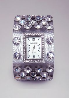 Metallic Leather Watch   from bebe on shop.CatalogSpree.com, your personal digital mall.
