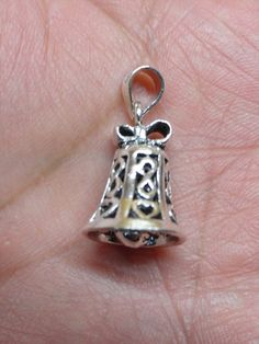 Exclusive Christmas Multipurpose Bell Ring Pendant in 925 Sterling Silver For Your Necklace, $15.99