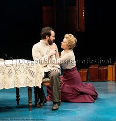 Oregon Shakespeare Festival. SEAGULL (2012): Tasso Feldman and Kathryn Meisle. Photo: Jenny Graham.