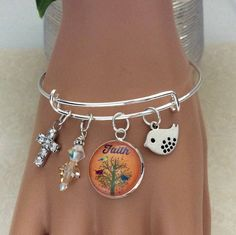 A personal favorite from my Etsy shop https://www.etsy.com/listing/520969514/faith-bangle-bracelet-tree-of-life
