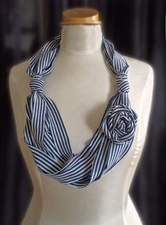 recycled t-shirt scarf by fantazya fantazies, via Flickr