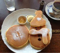 snowman pancake