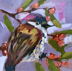 Dunnock Original Bird Oil Painting by Angela Moulton pre-order