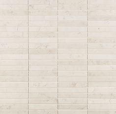 "ANN SACKS Biancone 1/2"" x 3"" straight marble mosaic in honed finish"