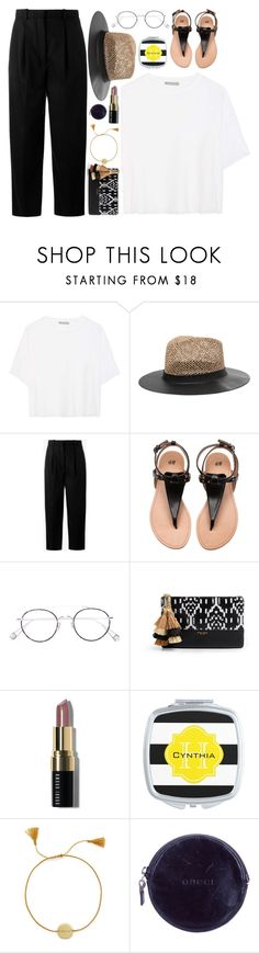 """Summer hats"" by askhaerunisa ❤ liked on Polyvore featuring Vince, Eugenia Kim, Acne Studios, Ahlem, Henri Bendel, Bobbi Brown Cosmetics, Anna + Nina, Gucci and summerhats"