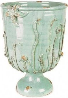 Fortunata Mediterraneo Planter.  Wonderful Company...Handmade Italian Pottery