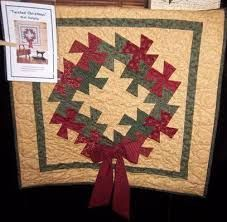 TWISTED WREATH Rose Pohlar  Quilting Sewing  Pattern Americana//Christmas
