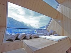#LuxuryLiving Architect Peter Jungmann designed the UFOGEL holiday house, which is built on stilts, floating above a meadow near Lienz, Austria.