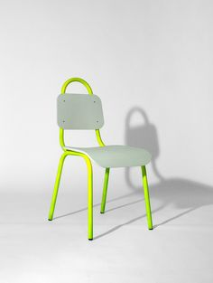 Dining Chair Yellow and White – Primary Grey
