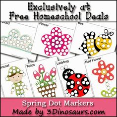 Some of the Best Things in Life are Mistakes: Free Do a Dot Printables