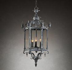 restoration hardware 19th c salerno streetlight pendant weathered