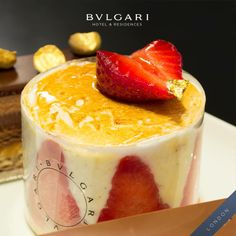 Fraisier vanilla sponge cake with fresh strawberries and Chantilly. #bulgarihotels #bulgari #london