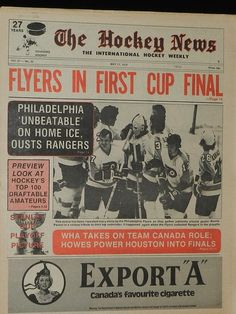 Flyers first cup final Flyers Hockey, Hockey Players, Philadelphia Eagles Football, Philadelphia Sports, Flyers Stanley Cup, Hockey News, Hockey Pictures, Montreal Canadiens, Atelier