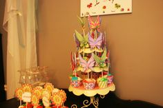 Cupcakes with Fairy Wings for a Tinker Bell Fairy Party! So cute!
