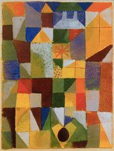 """Urban Composition with Yellow WindowsKlee, Paul, 1879–1940, Swiss-German artist. """"Städtische Komposition mit gelben Fenstern"""", (Urban composition with yellow windows), 1919,"""