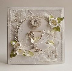 Dorota_mk: First Holy Communion Confirmation Cards, Baptism Cards, First Communion Cards, First Holy Communion, Scrapbooking, Scrapbook Cards, Handmade Design, Card Tags, Hobbies And Crafts