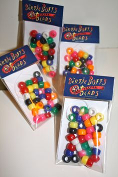 """10 """"Bertie Bott's Every Flavour Beads"""" Kits - Harry Potter Party Favor with FREE Customization of the Birthday Child's Name!"""