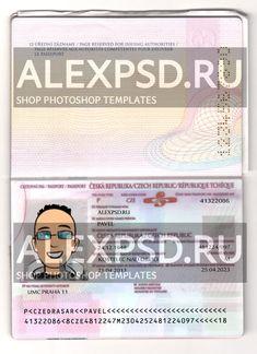 Czechia passport - ALEXPSD Passport Template, Photoshop, Psd Templates, Names, Passport