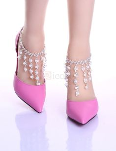 ❀ Elegant Pointed Toe Thin Heels Pumps Party Shoes | Riccol ❤