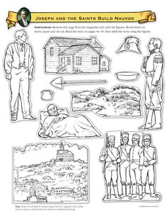 Joseph Smith Protects the Golden Plates Coloring Page FHE Ideas