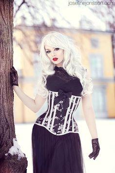 Elegance in Darkness Tumblr Blonde Goth