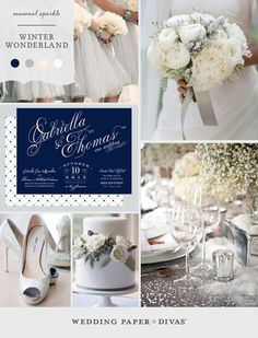 For an elegant winter wedding, add a bit of seasonal sparkle with frosty hues and silver sequins.#wedding