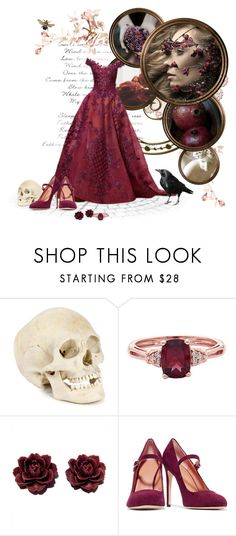 """Our Maiden of the Underworld"" by birdiemcgrew ❤ liked on Polyvore featuring Halston Heritage"