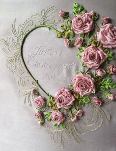 RIBBON FLOWERS.I  would  love  to  learn  how  to  do   Ribbon art