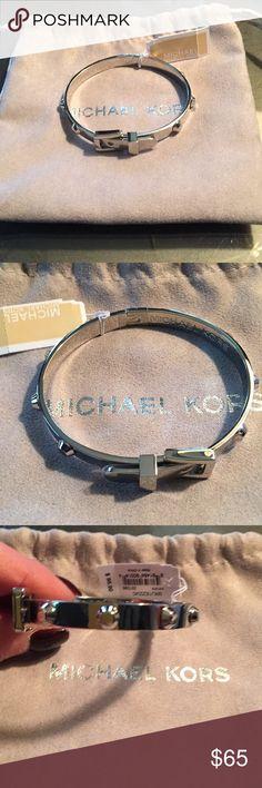 Michael Kors Studded Belt Buckle Bracelet Silver color MICHAEL Michael Kors Jewelry Bracelets
