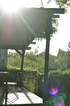 Light, covered deck