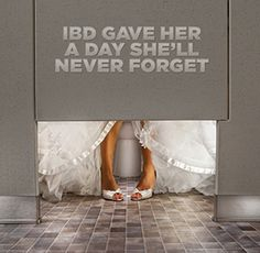 This was suppose to be the happiest day of her life but thanks to #IBD she is spending her wedding day in a bathroom stall. Visit www.ccfa.org for ways you can help her.