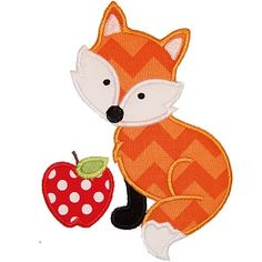 Fox and Apple Applique