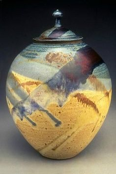 Ayers Pottery, Hannibal Picture: Beautiful Vase with Fancy Ribbon Handles is Red Splash - Check out TripAdvisor members' 1,150 candid photos and videos of Ayers Pottery