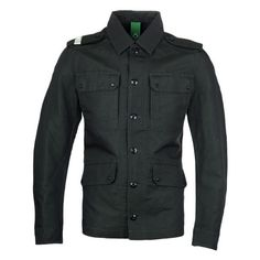 Mens Green MA.Strum Military Green Officers Overshirt via Polyvore featuring men's fashion