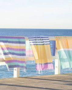 Hanging Quilts, Turkish Cotton Towels, Linens And Lace, Linen Curtains, Beach Blanket, Clothes Line, Pretty Pastel, Pastel Colors, Beach Towel