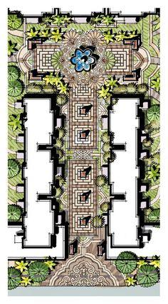 Landscape Architecture Graphics Pdf Wheat Landscape Gardening And Design Garden Design Plans, Landscape Design Plans, Landscaping Design, Landscape Architecture Drawing, Architecture Graphics, Resort Plan, Urban Design Plan, Master Plan, Interior Exterior