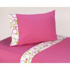 Sweet JoJo Designs 200 Thread Count Mod Circles Bedding Collection Cotton Sheet Set