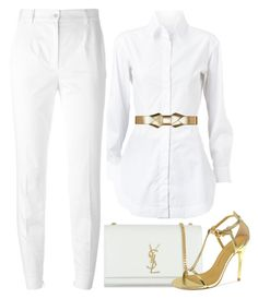 """""""BRANCO"""" by ebramos ❤ liked on Polyvore featuring Alaïa, Dolce&Gabbana, Marni, Yves Saint Laurent and Chinese Laundry"""