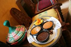 Ethiopian food tried for the first time. Mixed wat with injera, all eaten with fingers.