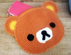ATASHI: Crochet: Rilakkuma pouch and announcement ^^
