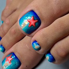 Unusual Sea Nail Designs For Toes ❤ 40+ Incredible Toe Nail Designs for Your Perfect Feet ❤ See more ideas on our blog!! #naildesignsjournal #nails #nailart #toes #toenaildesigns #toenails Pretty Nail Designs, Toe Nail Designs, Vacation Nails, Toe Nails, Pretty Nails, Hair Makeup, Pedicure Ideas, Nail Art, The Incredibles