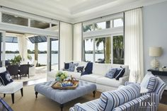 Vibrant colors, beachy accents, and paradise-inspired furnishings give these Palm Beach homes the feel of a tropical retreat.